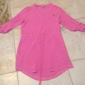 Like New pink tunic tie waist dress. Size medium
